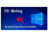 No Audio Output Device is Installed Error